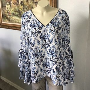 White House Black Market Size 14 Blouse